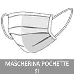 MASCHERINA POCHETTE ABBINATA AL TESSUTO DELLA CAMICIA - +3,90€